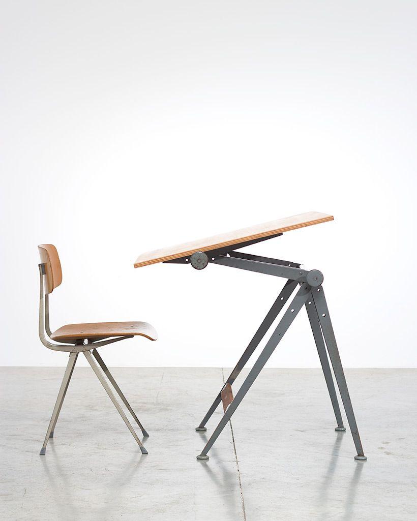 vintage reply zeichentisch von wim rietveld mit result. Black Bedroom Furniture Sets. Home Design Ideas