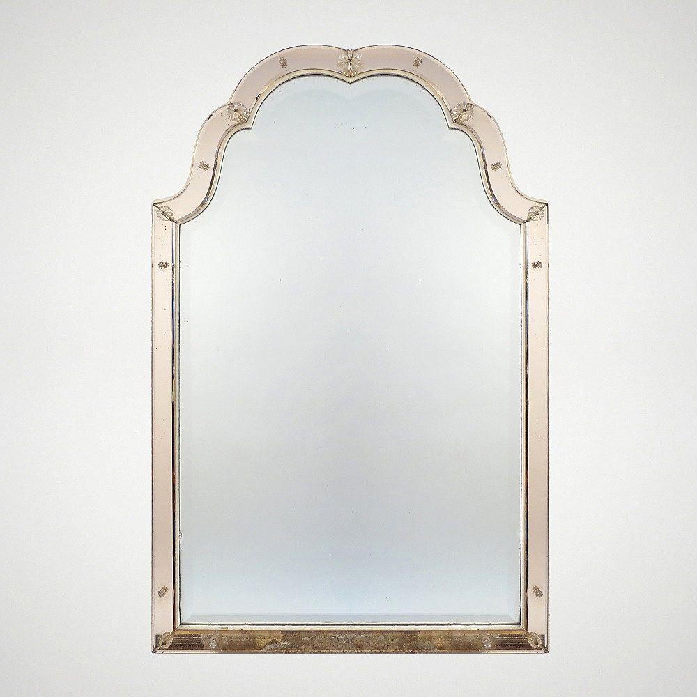 italienischer vintage spiegel mit holzrahmen 1940er bei. Black Bedroom Furniture Sets. Home Design Ideas