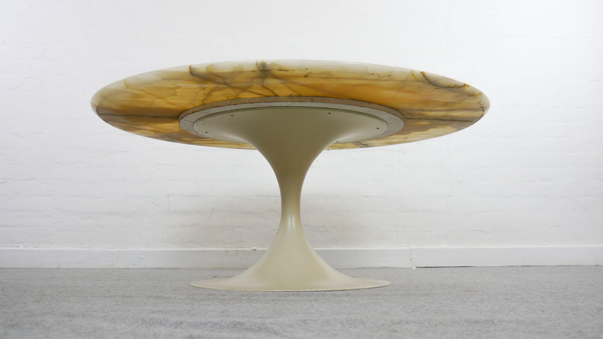 Onyx Tulip Coffee Table By Maurice Burke For Arkana 1970s