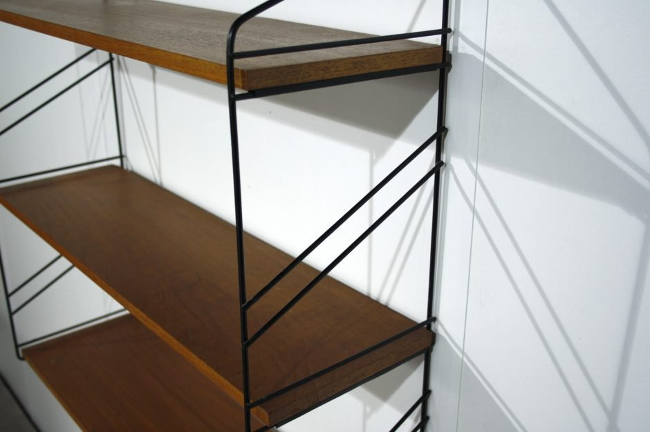 vintage wandregal aus holz bei pamono kaufen. Black Bedroom Furniture Sets. Home Design Ideas