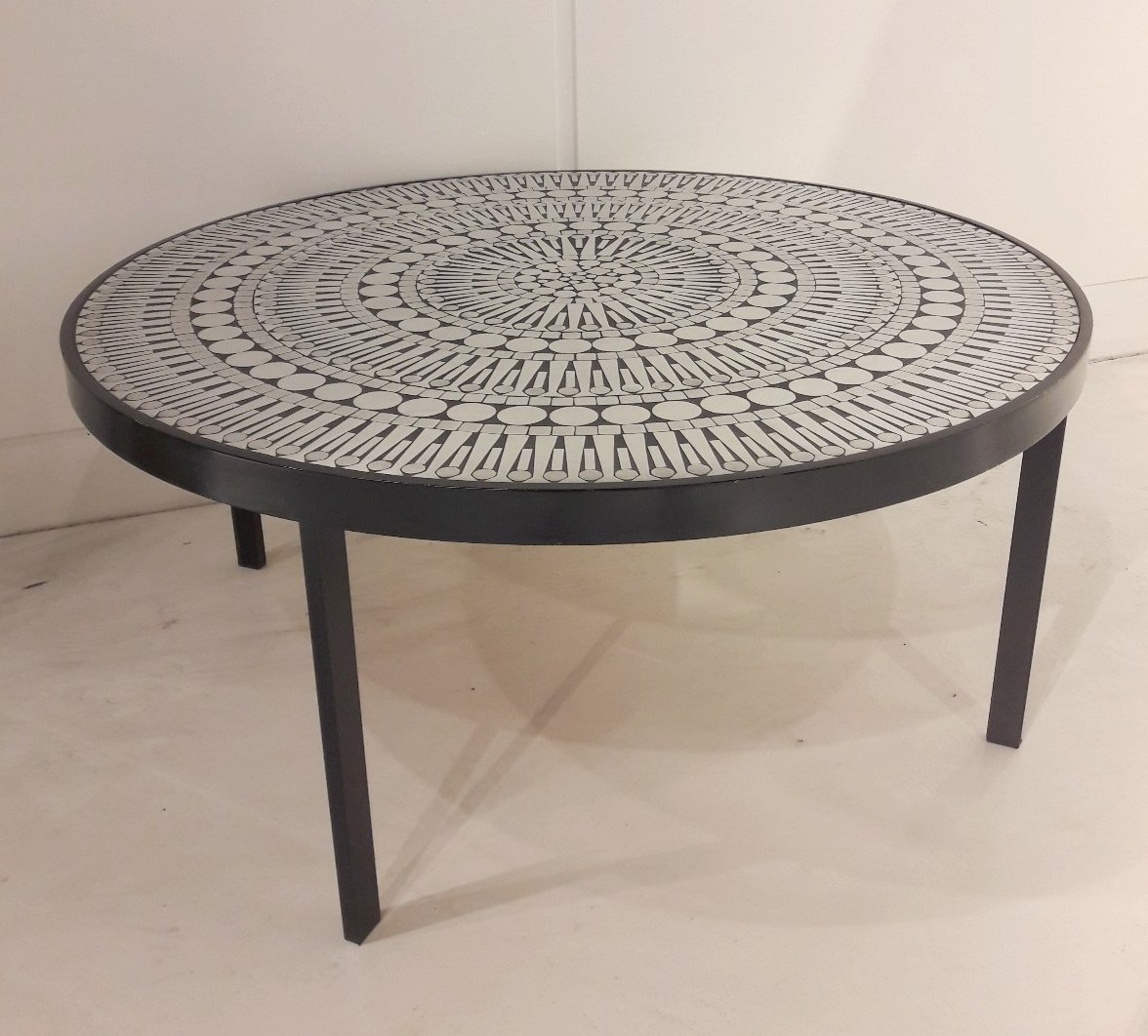 Vintage Aluminum Mosaic Coffee Table By Raf Verjans For Sale At Pamono