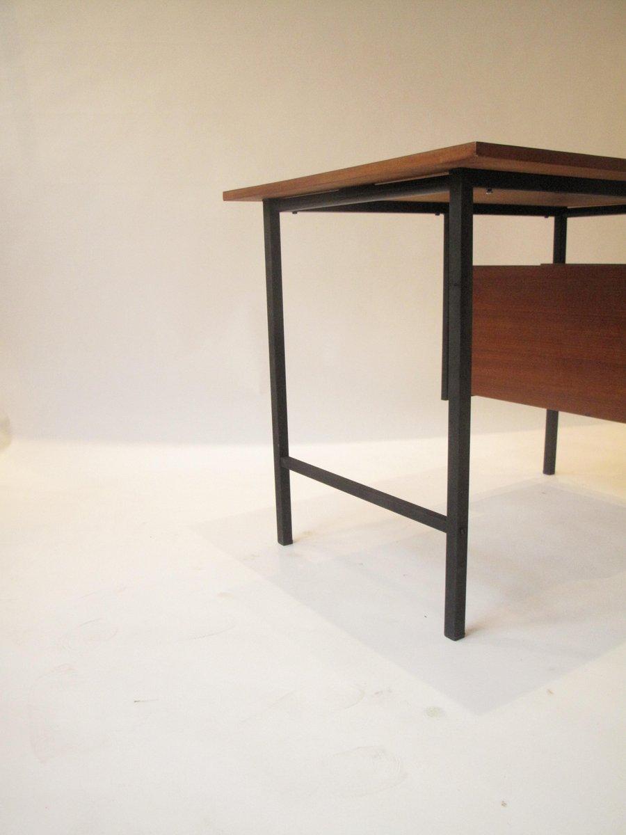 Schreibtisch aus holz metall 1960er bei pamono kaufen for Metall schreibtisch