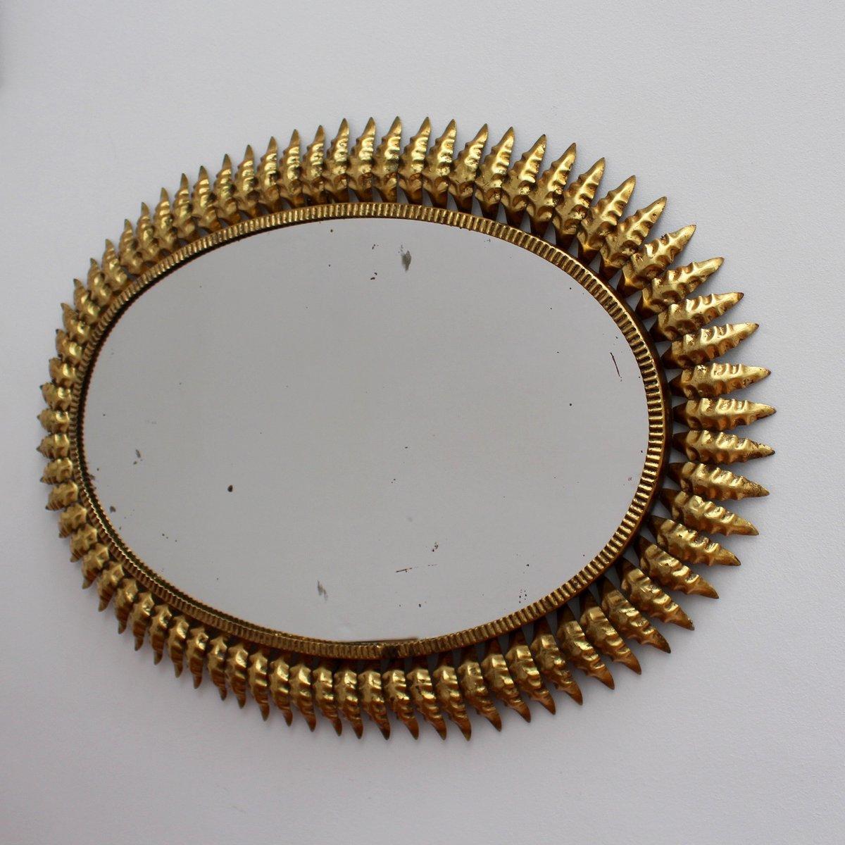 Specchio a forma di sole in metallo dorato spagna anni 39 50 in vendita su pamono - Specchio a forma di sole ...
