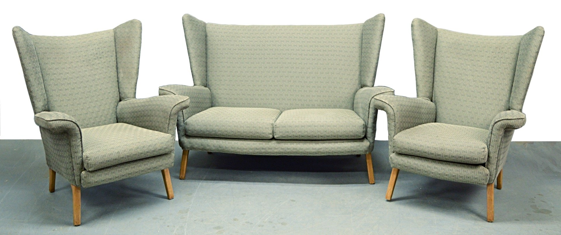 Mid Century 3 Piece Living Room Set, 1950s