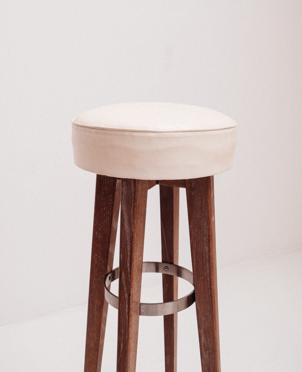 Oak High Bar Stools 1954 Set Of 2 For Sale At Pamono