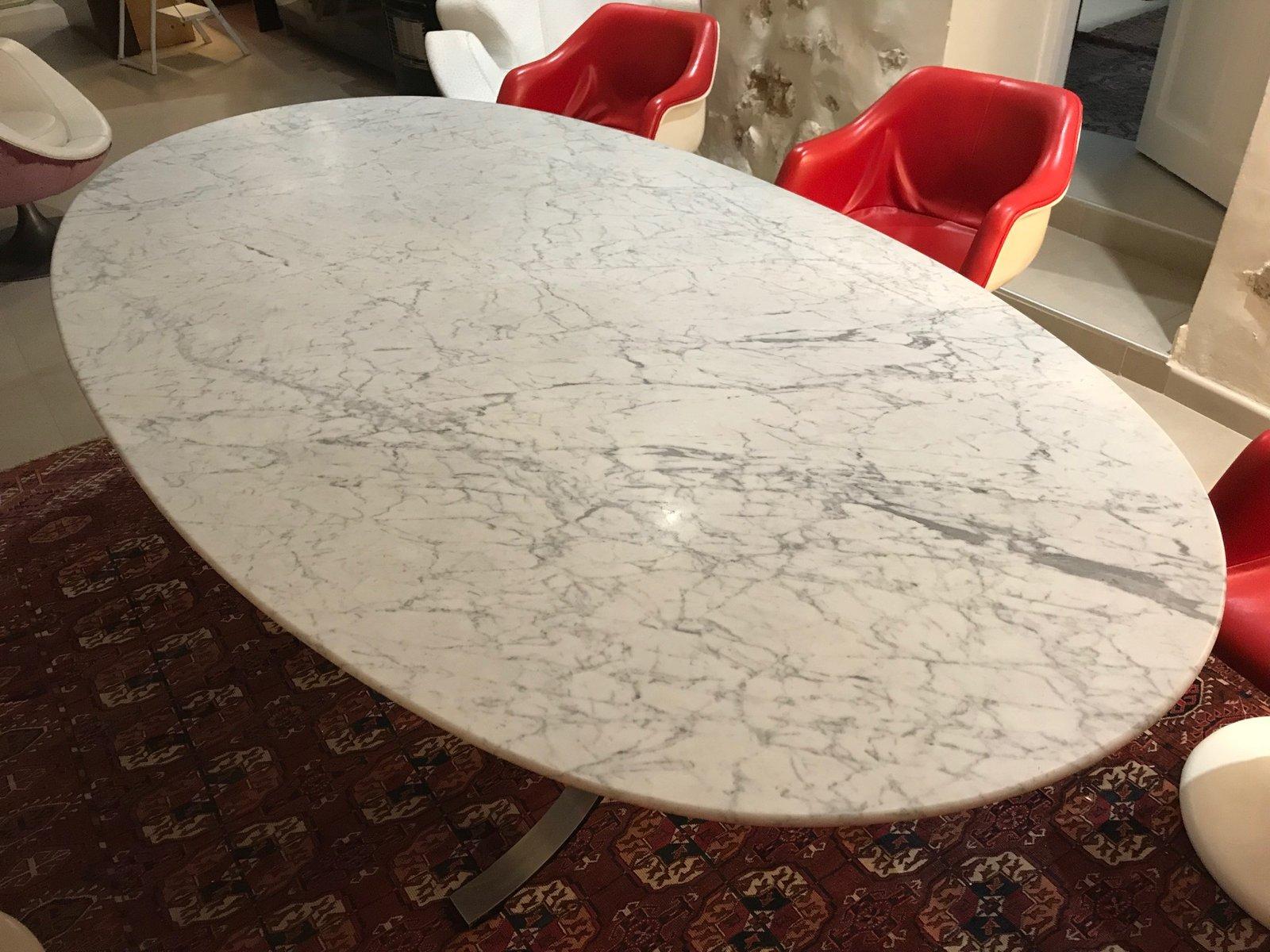 esstisch mit marmor platte von osvaldo borsani f r tecno 1960er bei pamono kaufen. Black Bedroom Furniture Sets. Home Design Ideas