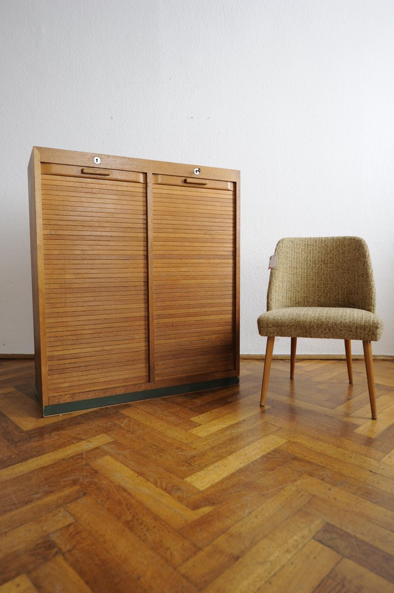 Mid century venetian blind cabinet for sale at pamono for Schrank rollo