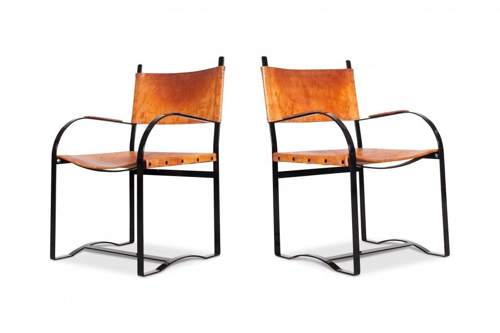 cognac leder armlehnst hle 1970er 6er set bei pamono kaufen. Black Bedroom Furniture Sets. Home Design Ideas
