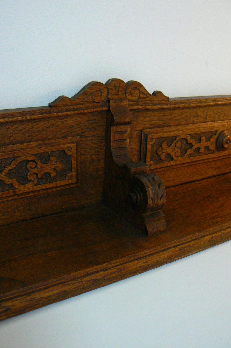 antikes deutsches b cher wandregal bei pamono kaufen. Black Bedroom Furniture Sets. Home Design Ideas