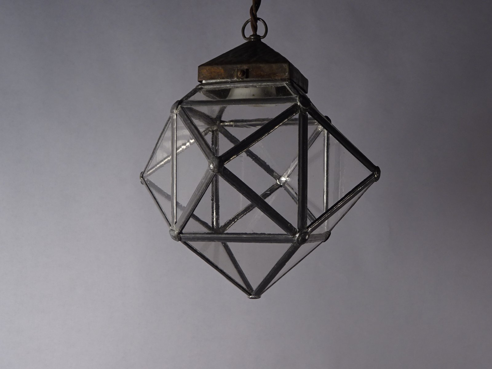 antike jugendstil deckenlampe aus messing bei pamono kaufen. Black Bedroom Furniture Sets. Home Design Ideas