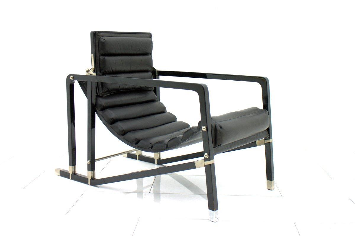 Eileen Gray Möbel vintage black lounge chair by eileen gray for ecart international