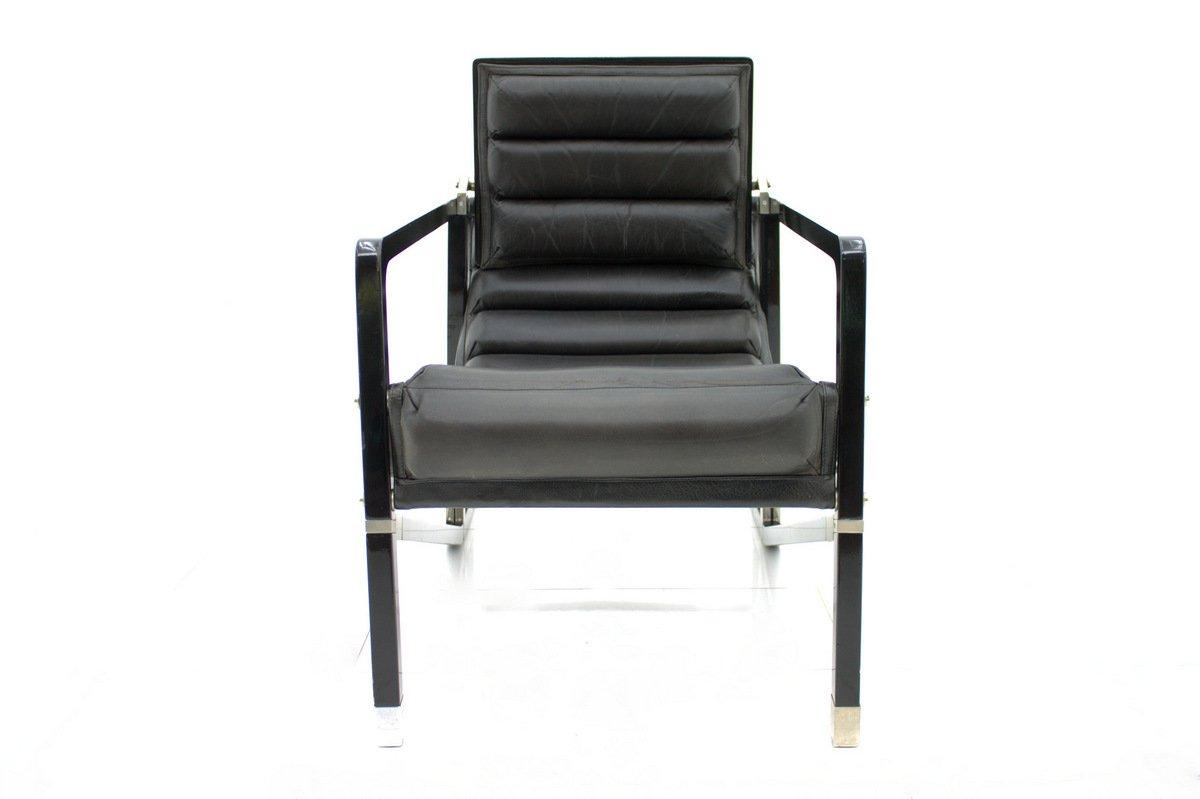 schwarzer vintage sessel von eileen gray f r ecart. Black Bedroom Furniture Sets. Home Design Ideas