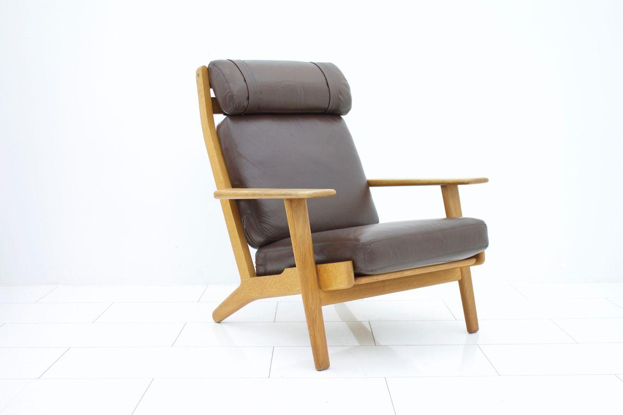 Ge 290 lounge chair by hans j wegner for getama 1960s for Hans wegner queen chair