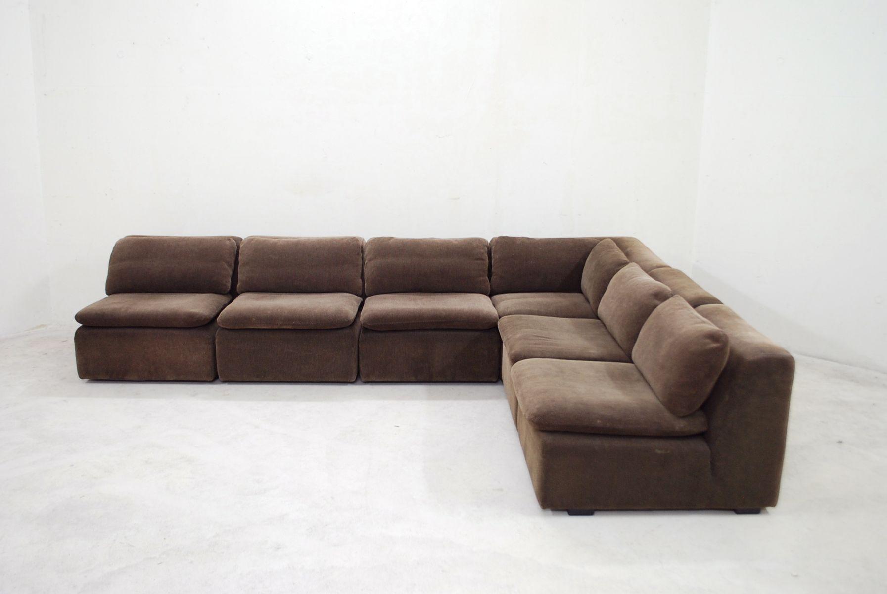 vintage brown modular sofa from cor bei pamono kaufen. Black Bedroom Furniture Sets. Home Design Ideas