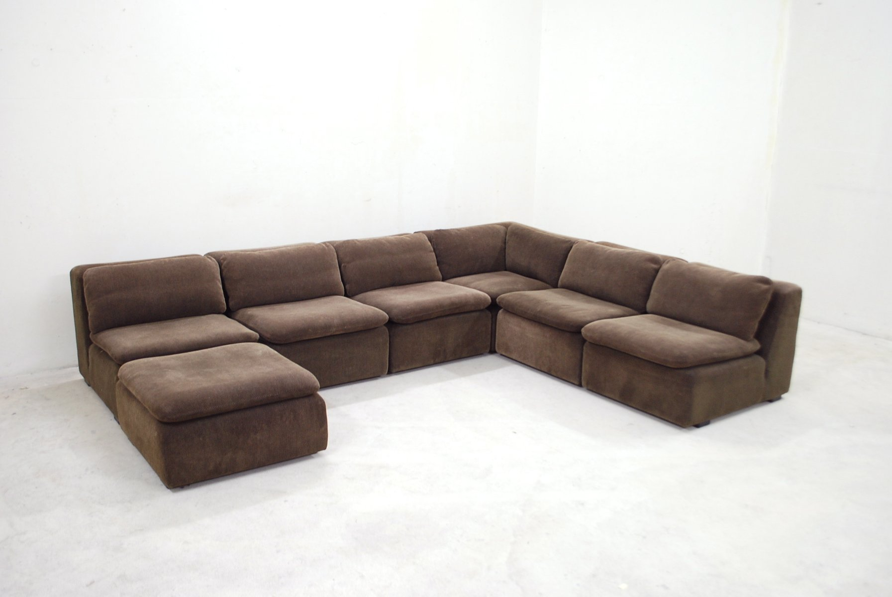 vintage brown modular sofa from cor bei pamono kaufen. Black Bedroom Furniture Sets. Home Design Ideas