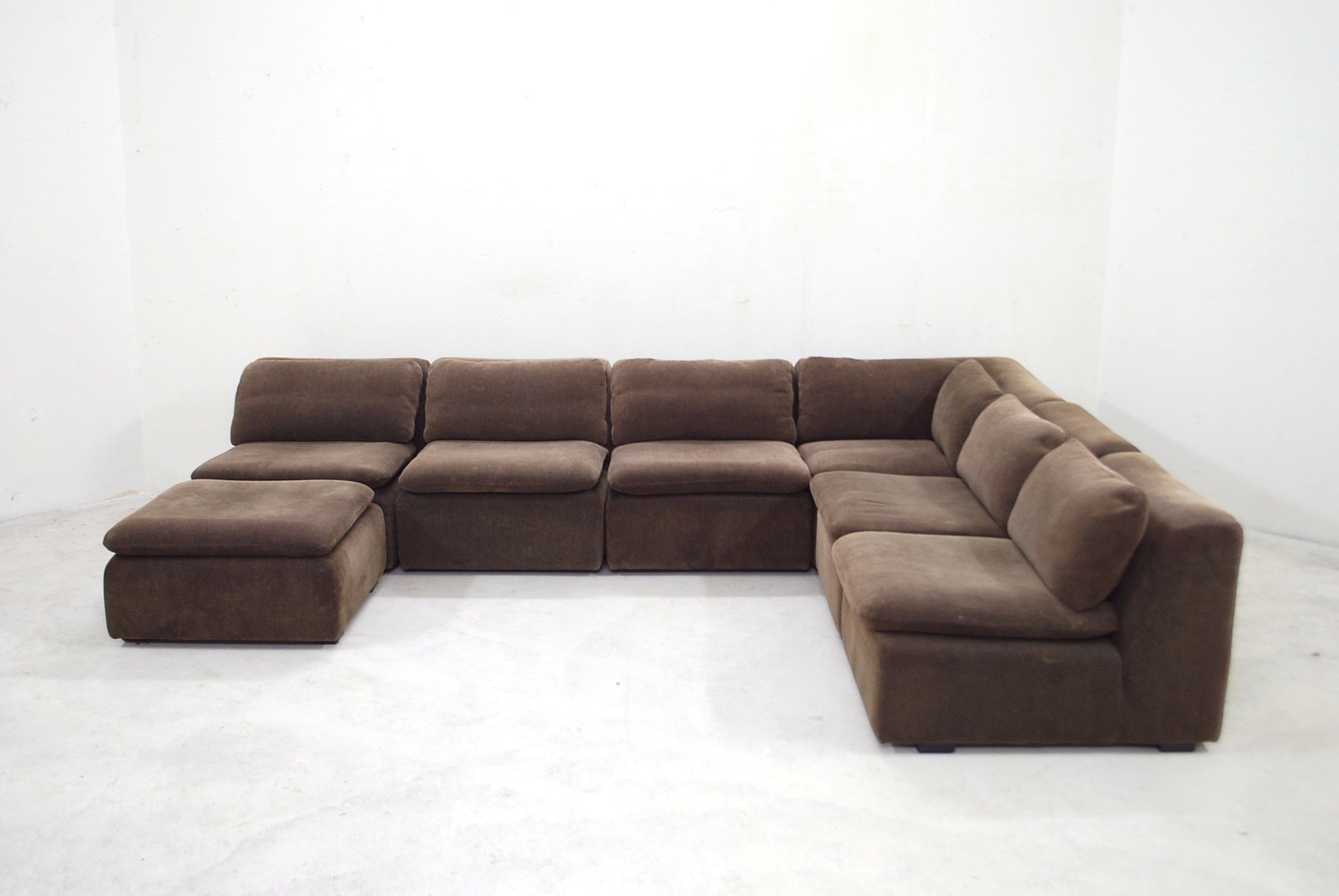 vintage brown modular sofa from cor for sale at pamono. Black Bedroom Furniture Sets. Home Design Ideas