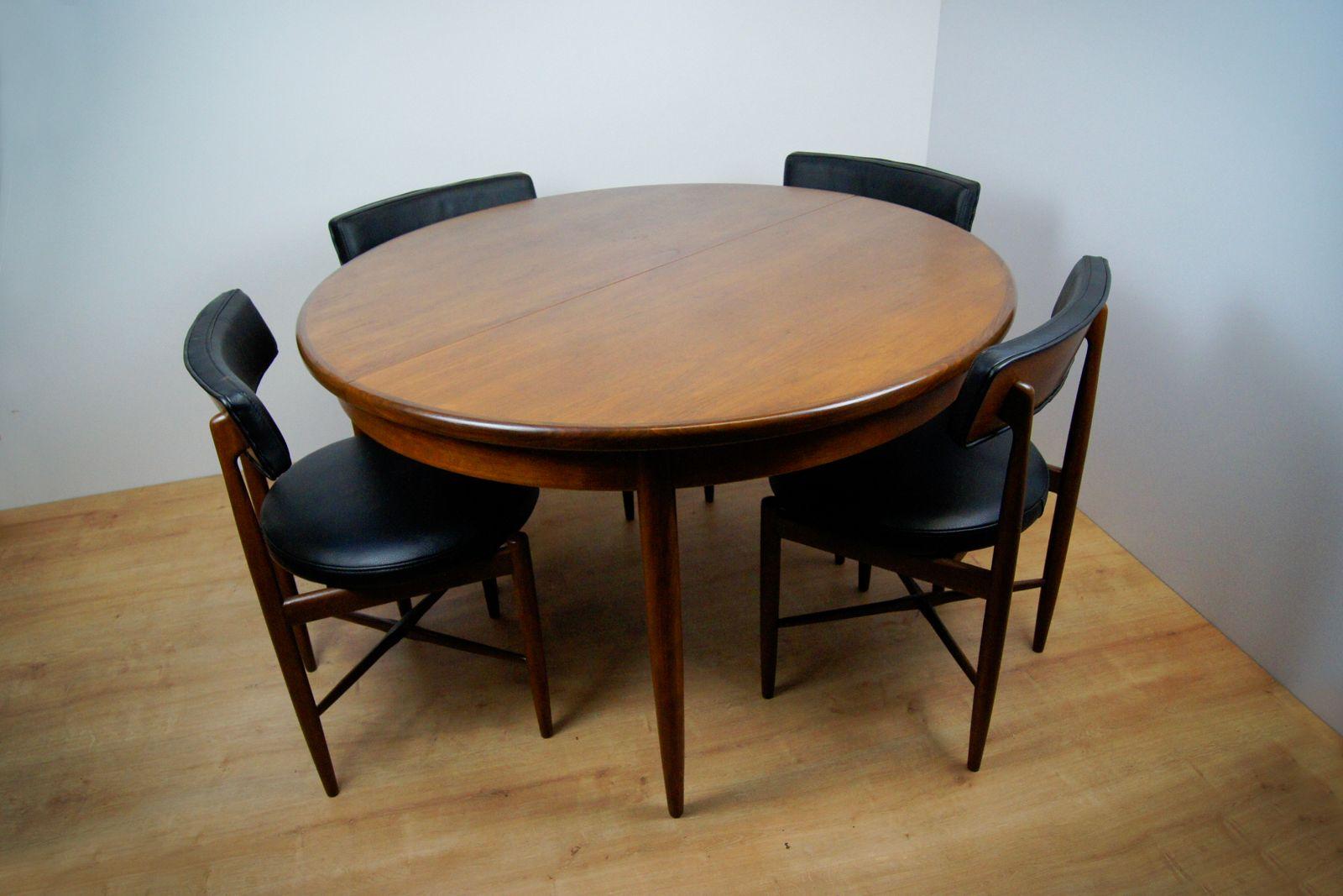 esstisch und 4 st hle von ib kofod larsen f r g plan. Black Bedroom Furniture Sets. Home Design Ideas
