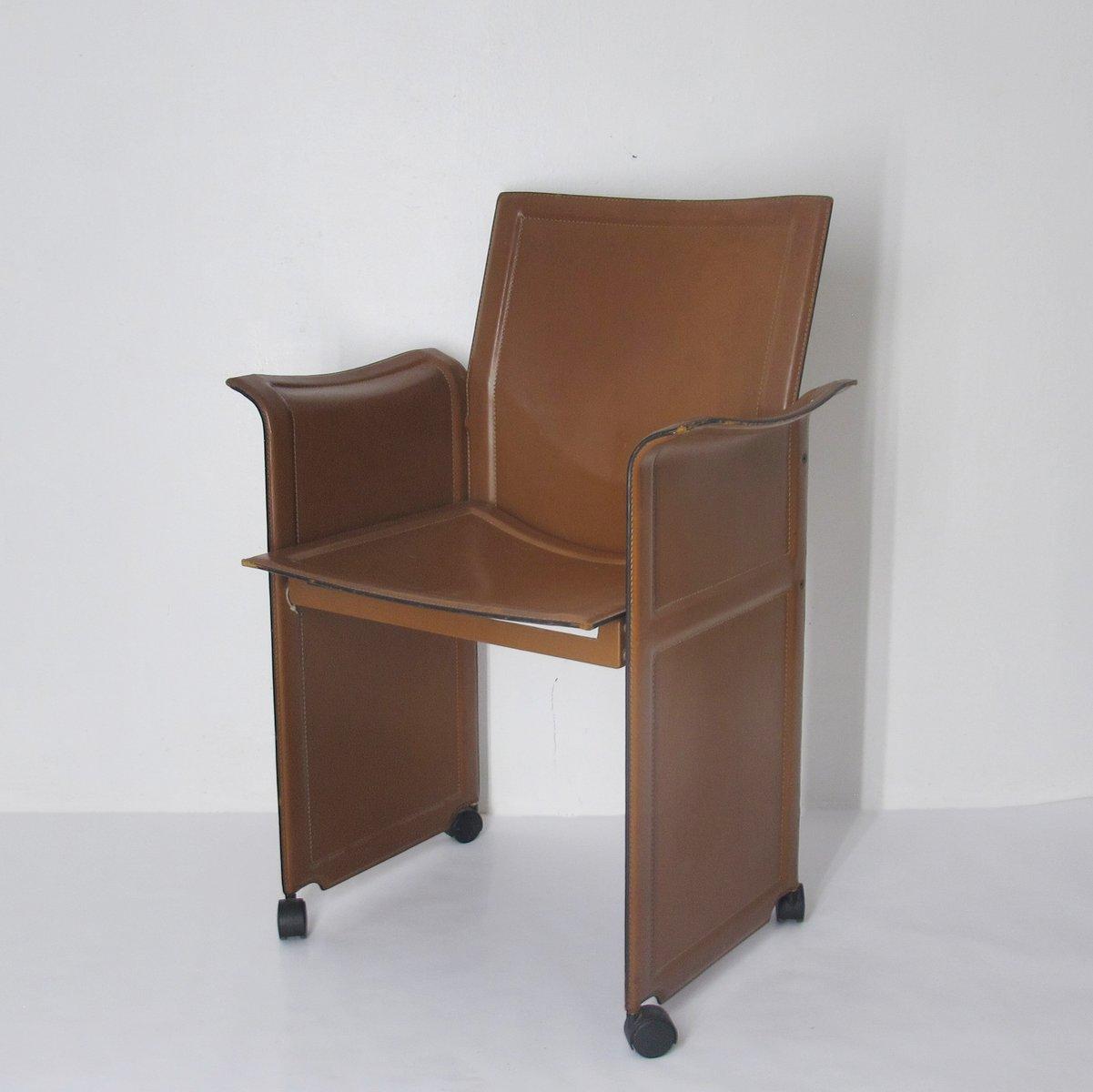 stuhl auf rollen von tito agnoli f r matteo grass 1970er. Black Bedroom Furniture Sets. Home Design Ideas