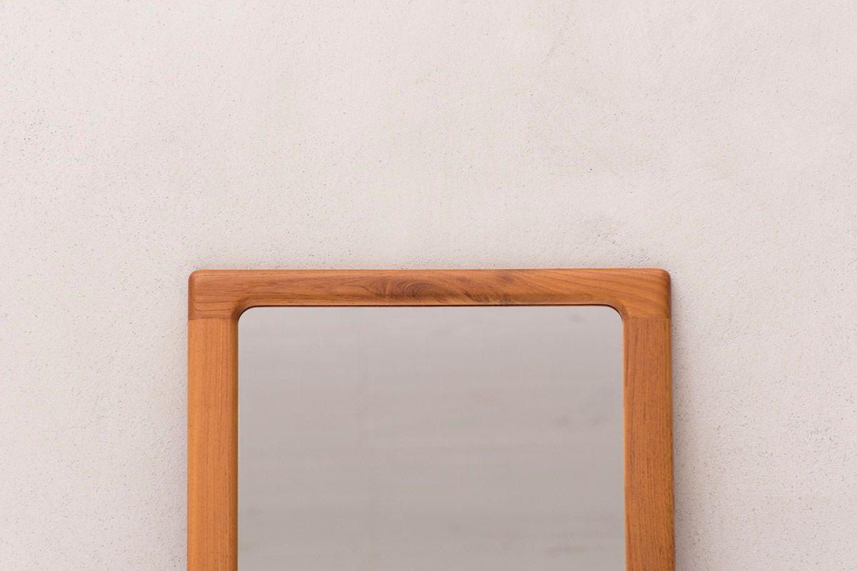 vintage spiegel mit rahmen aus massivem teakholz von cfc. Black Bedroom Furniture Sets. Home Design Ideas
