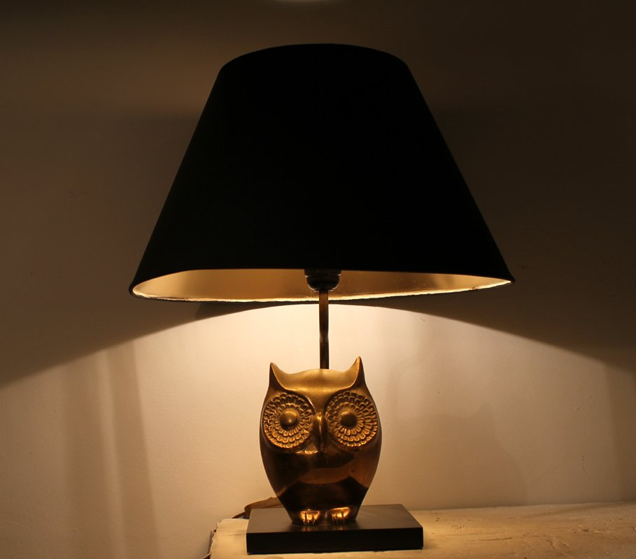 Owl table lamp 1970s for sale at pamono owl table lamp 1970s mozeypictures Choice Image