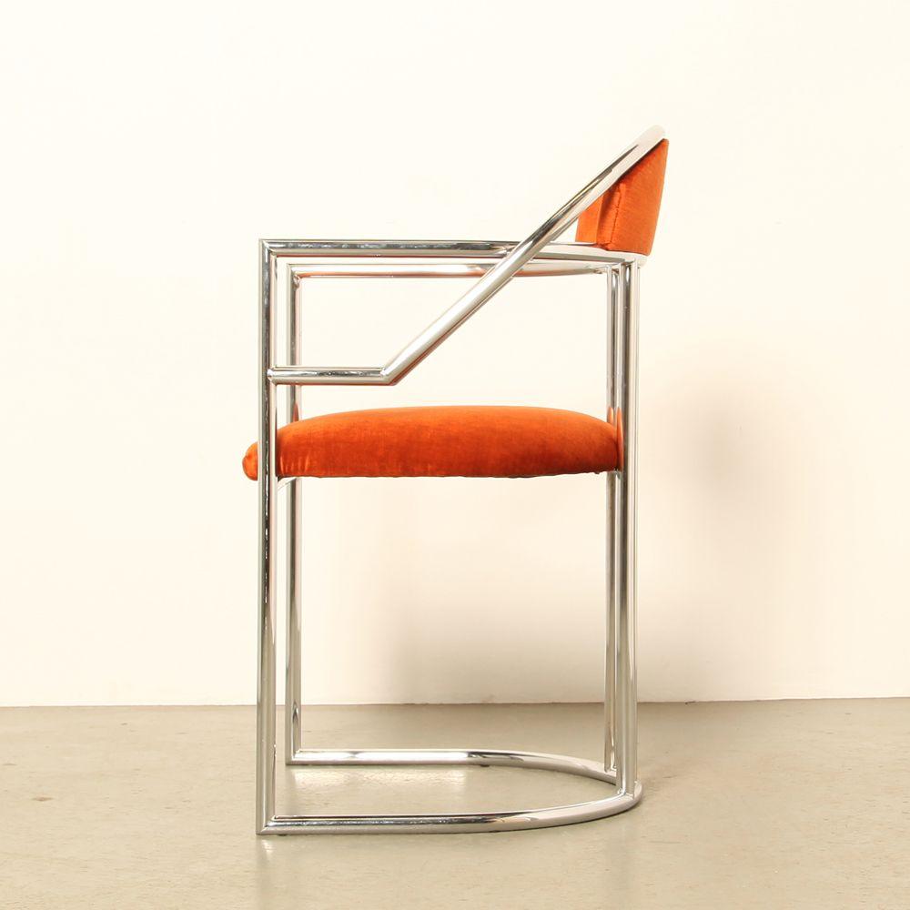 orangenfarbene vintage st hle 2er set bei pamono kaufen. Black Bedroom Furniture Sets. Home Design Ideas