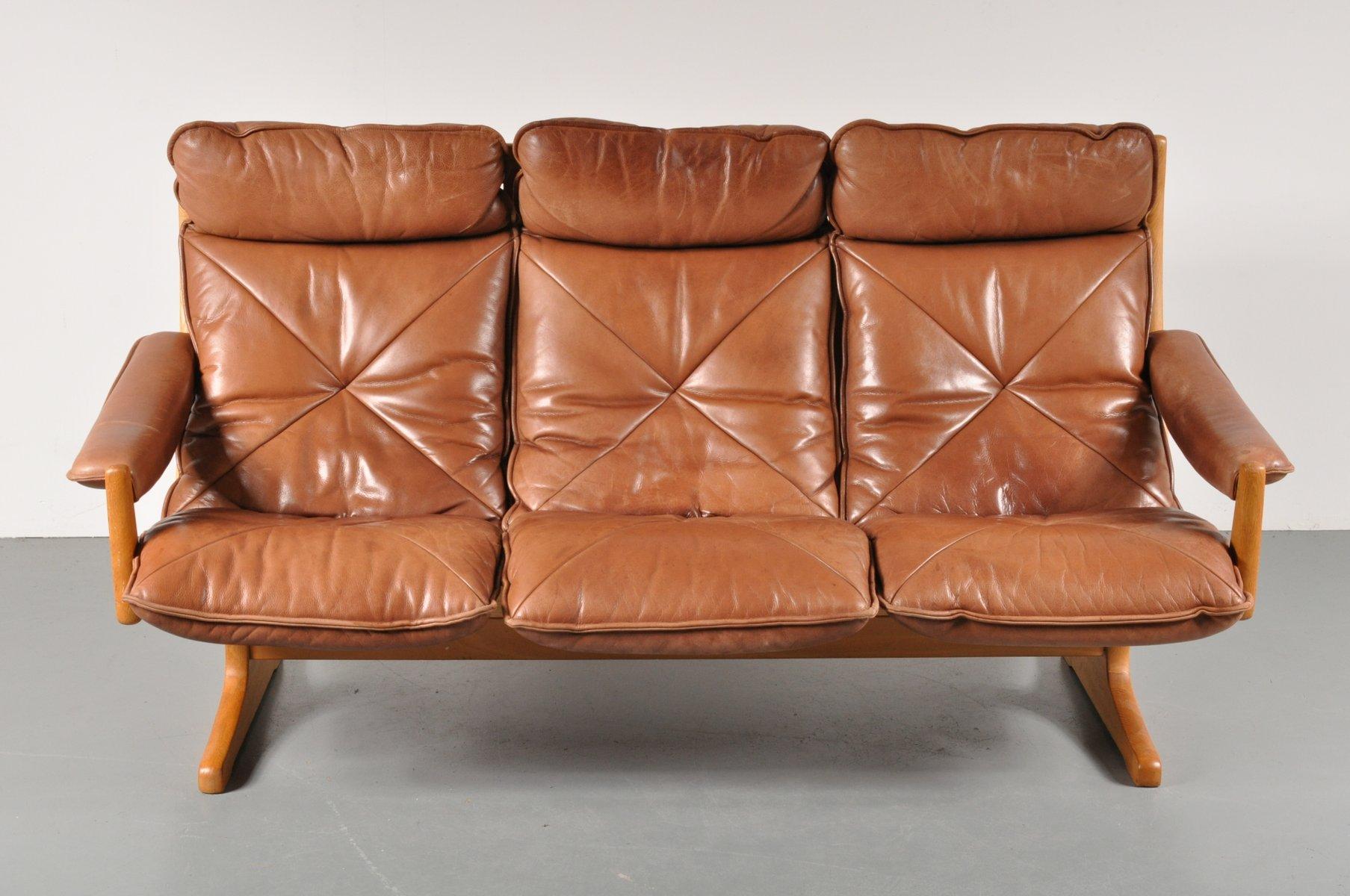 skandinavisches drei sitzer sofa von lied 1970er bei. Black Bedroom Furniture Sets. Home Design Ideas