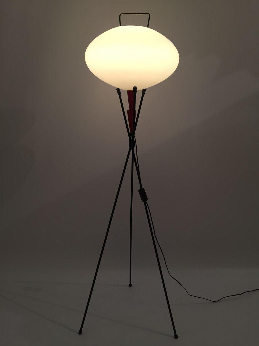 Vintage Japanese-Style Floor Lamp for sale at Pamono