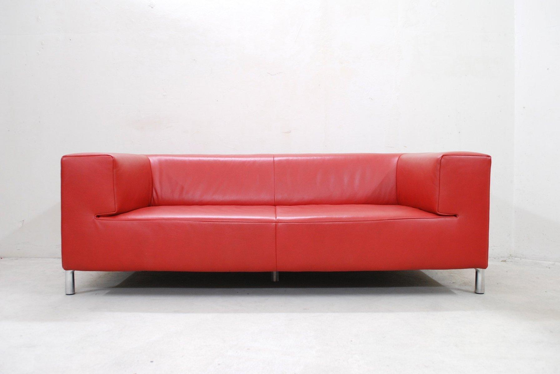 Divano genesis vintage in pelle rossa di koinor in vendita - Divano vintage pelle ...