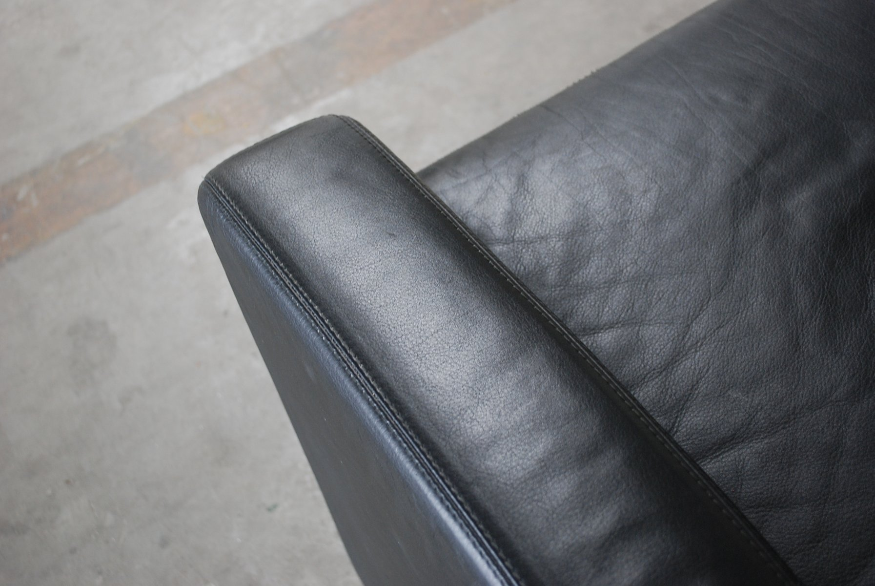 vintage conseta sessel aus schwarzem leder von cor 2er. Black Bedroom Furniture Sets. Home Design Ideas