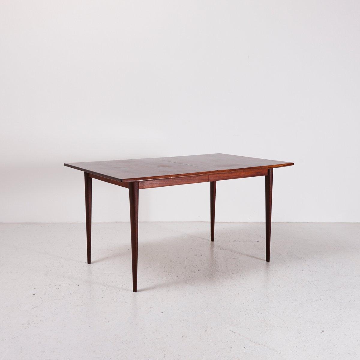esstisch aus palisander mit ausziehplatte 1960er bei. Black Bedroom Furniture Sets. Home Design Ideas