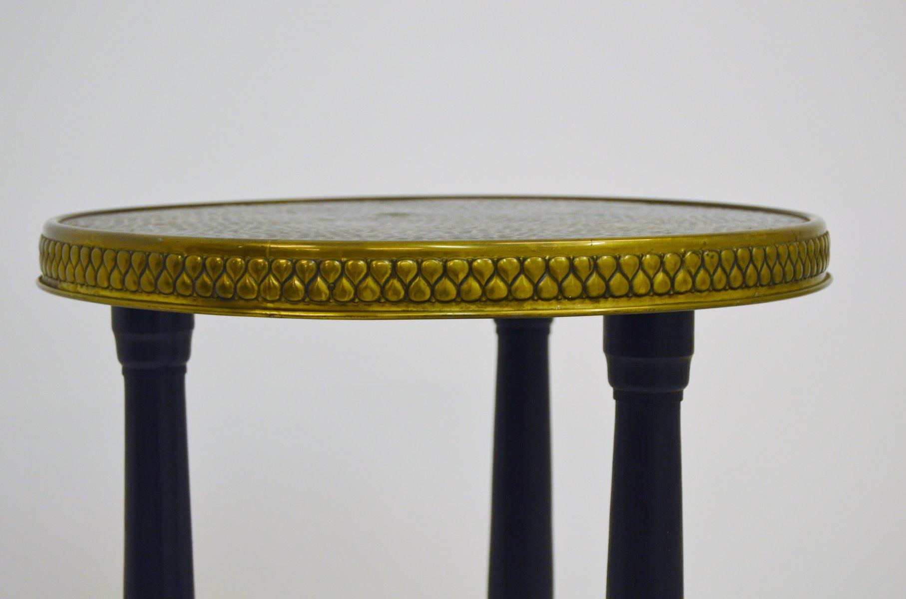 tisch mit platte aus kupfer messing 1930er bei pamono kaufen. Black Bedroom Furniture Sets. Home Design Ideas