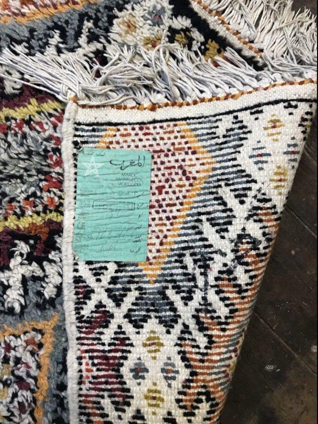 tapis berb re beni ouarain shag vintage en laine maroc 1963 en vente sur pamono. Black Bedroom Furniture Sets. Home Design Ideas