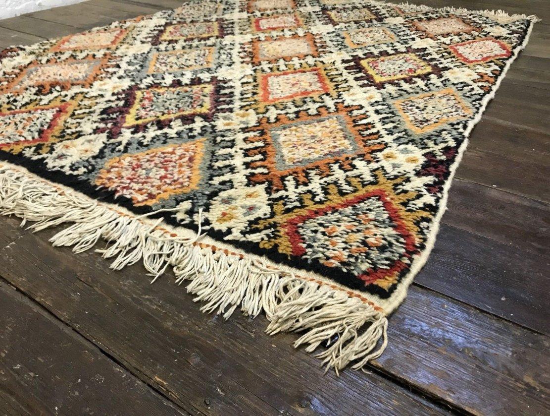 marokkanischer vintage berber beni ouarain shag langhaar. Black Bedroom Furniture Sets. Home Design Ideas