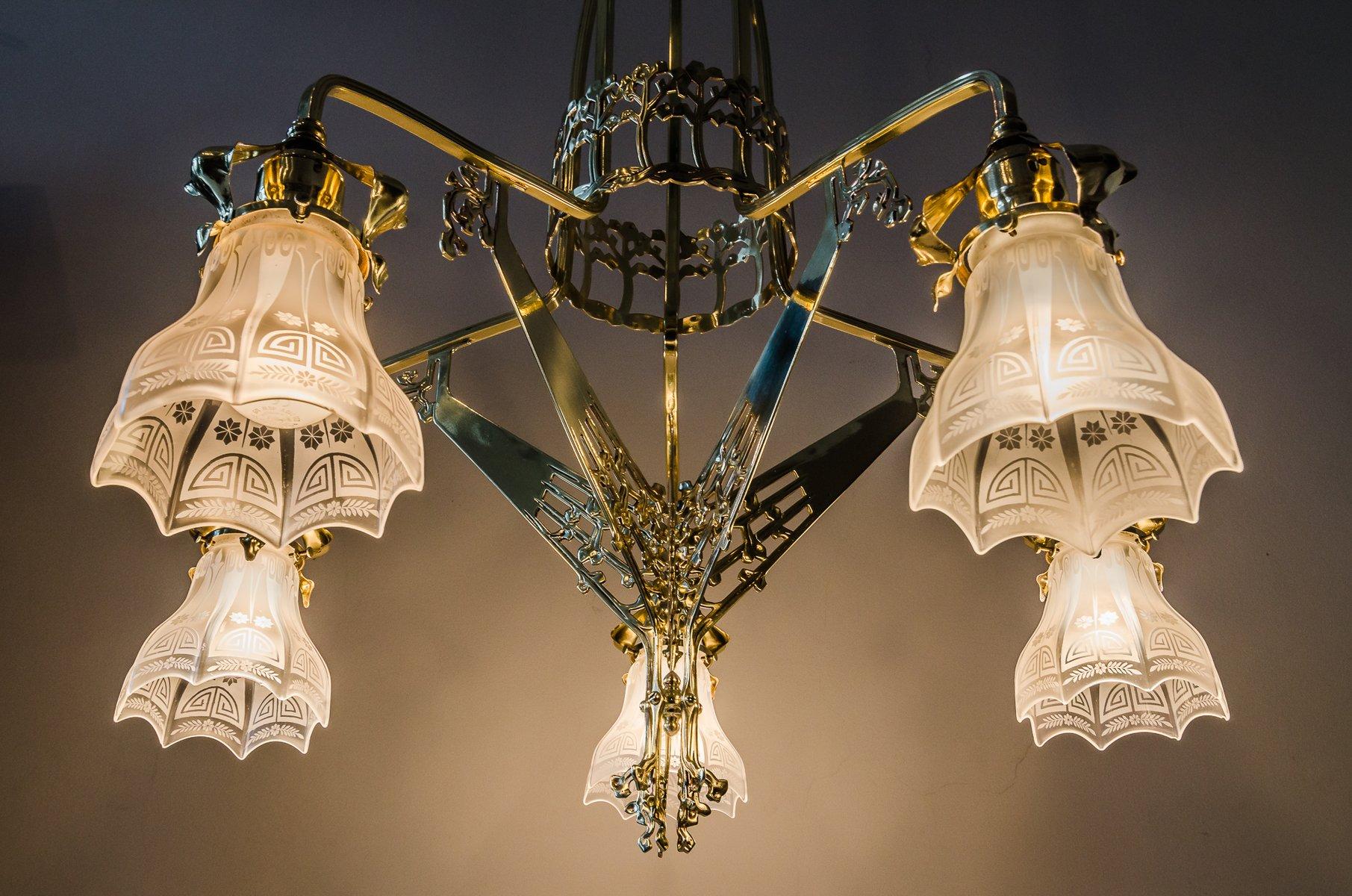 Art nouveau chandelier antique chandelier designs art nouveau chandelier 1900s for at pamono aloadofball Image collections