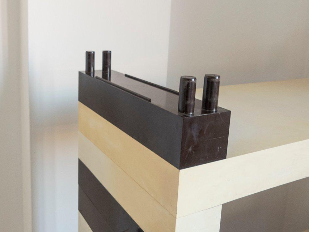 baustein system regal von de pas d 39 urbino lomazzi f r. Black Bedroom Furniture Sets. Home Design Ideas