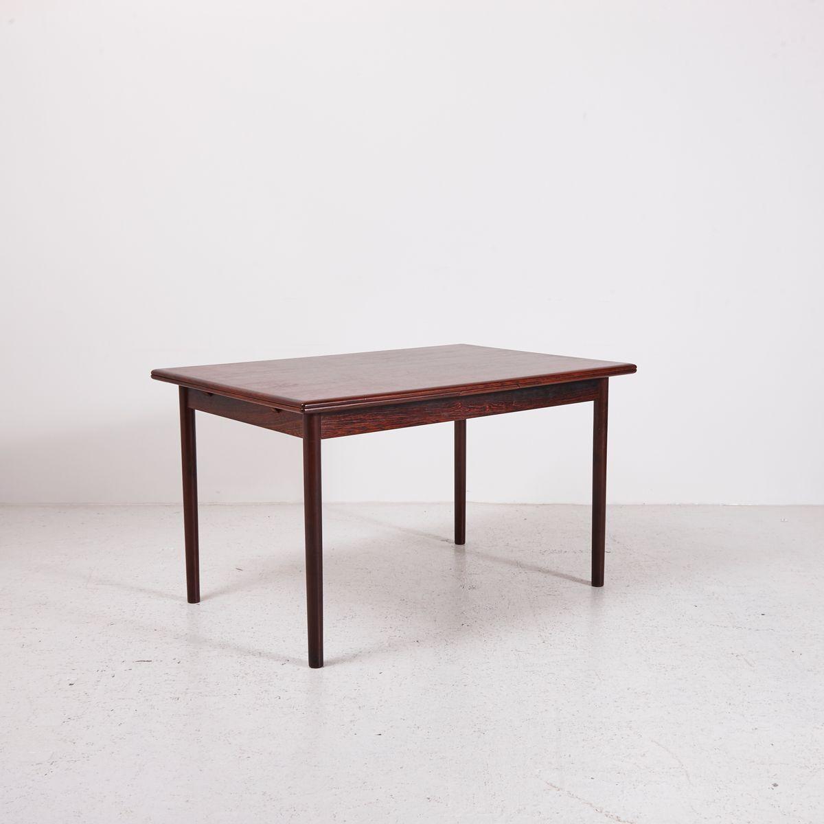 ausziehbarer tisch aus palisander 1960er bei pamono kaufen. Black Bedroom Furniture Sets. Home Design Ideas