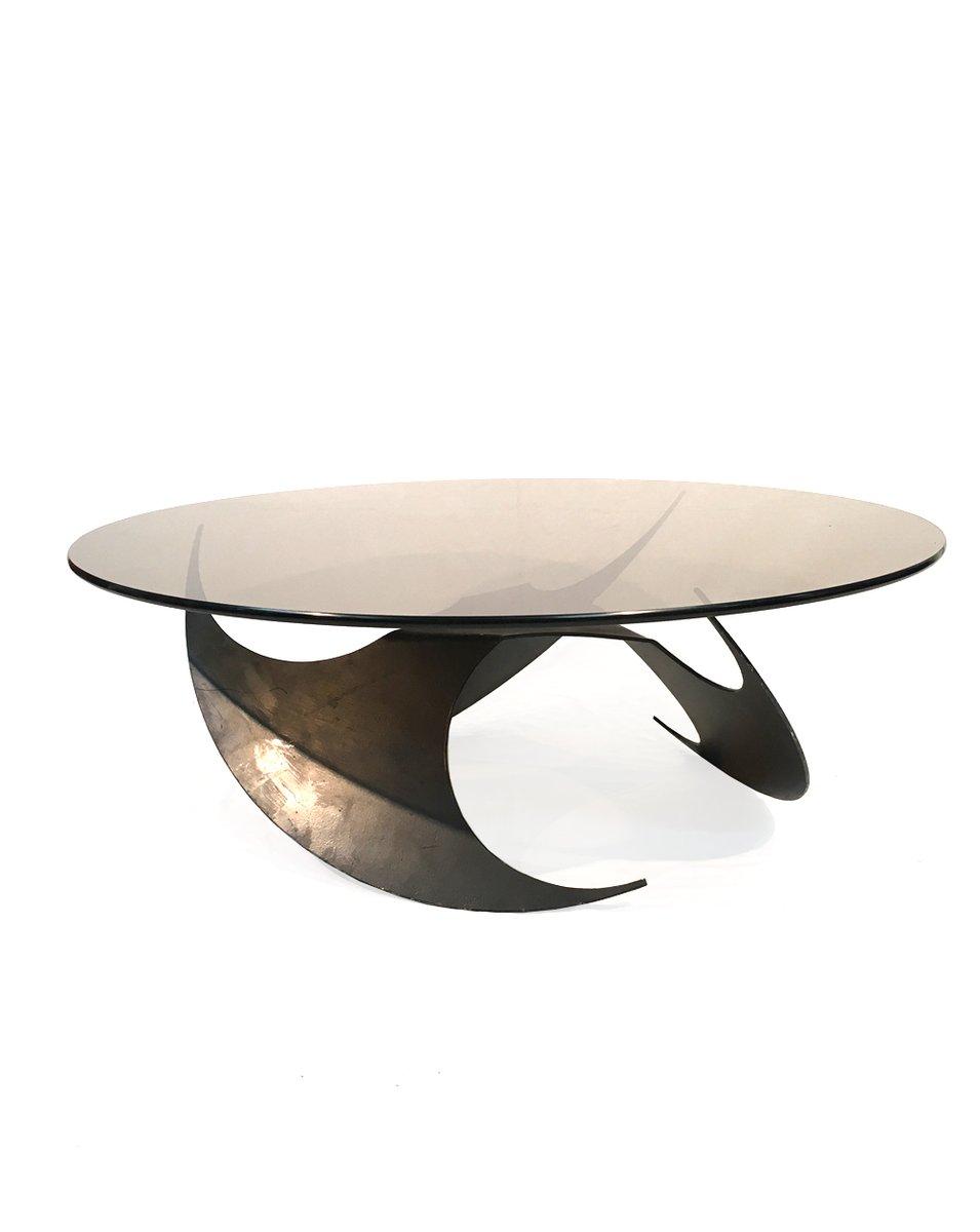 schwedischer couchtisch aus metall glas 1970er bei pamono kaufen. Black Bedroom Furniture Sets. Home Design Ideas