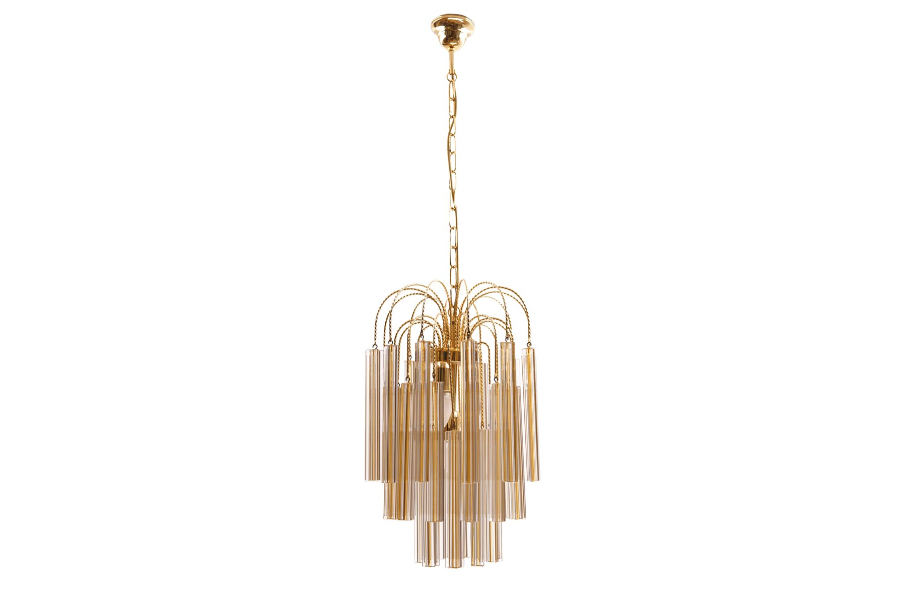 Vintage Chandelier with Murano Glass from Venini for sale at Pamono