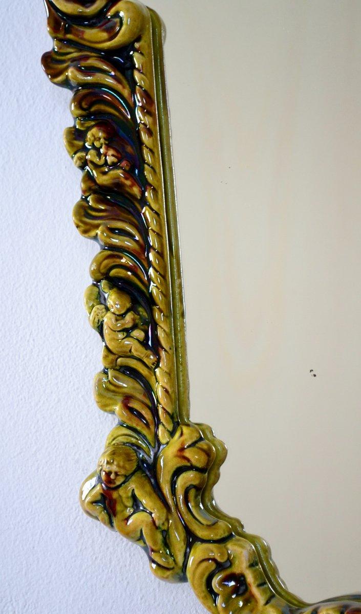 italienische wandlampe aus keramik mit engel 1950er bei. Black Bedroom Furniture Sets. Home Design Ideas