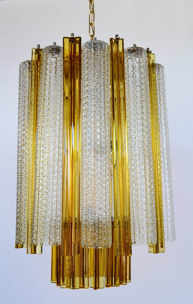 Murano Glass Chandelier with Trilobi Glass from Venini, 1960s for ...