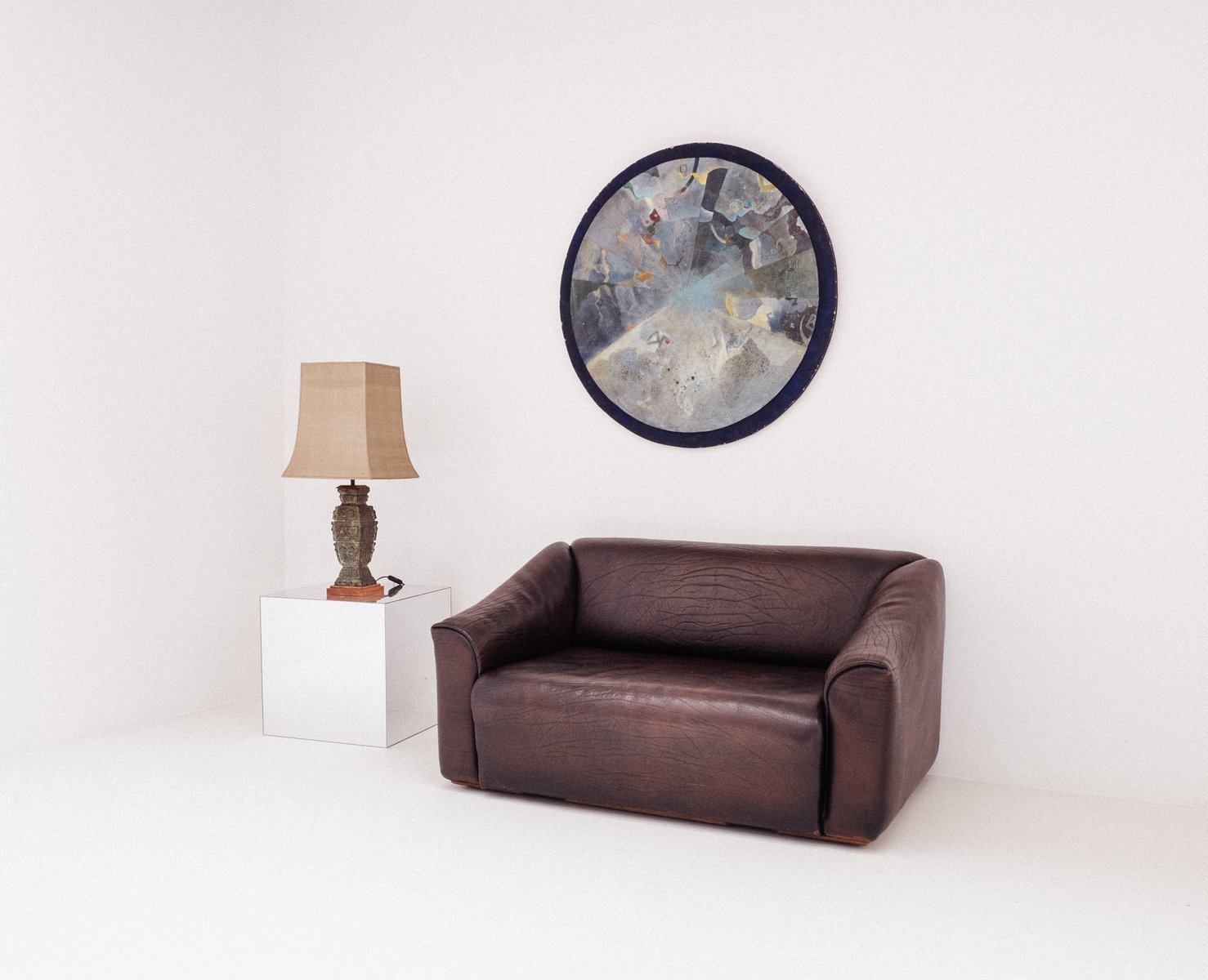 schokoladenbraunes ds 47 2 sitzer sofa von de sede 1970er. Black Bedroom Furniture Sets. Home Design Ideas