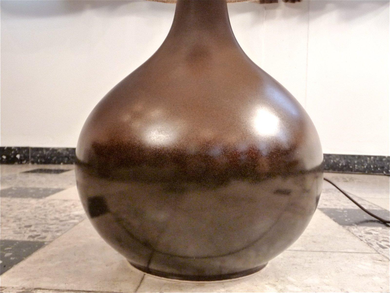 tischlampe aus keramik von rosenthal 1960er bei pamono kaufen. Black Bedroom Furniture Sets. Home Design Ideas
