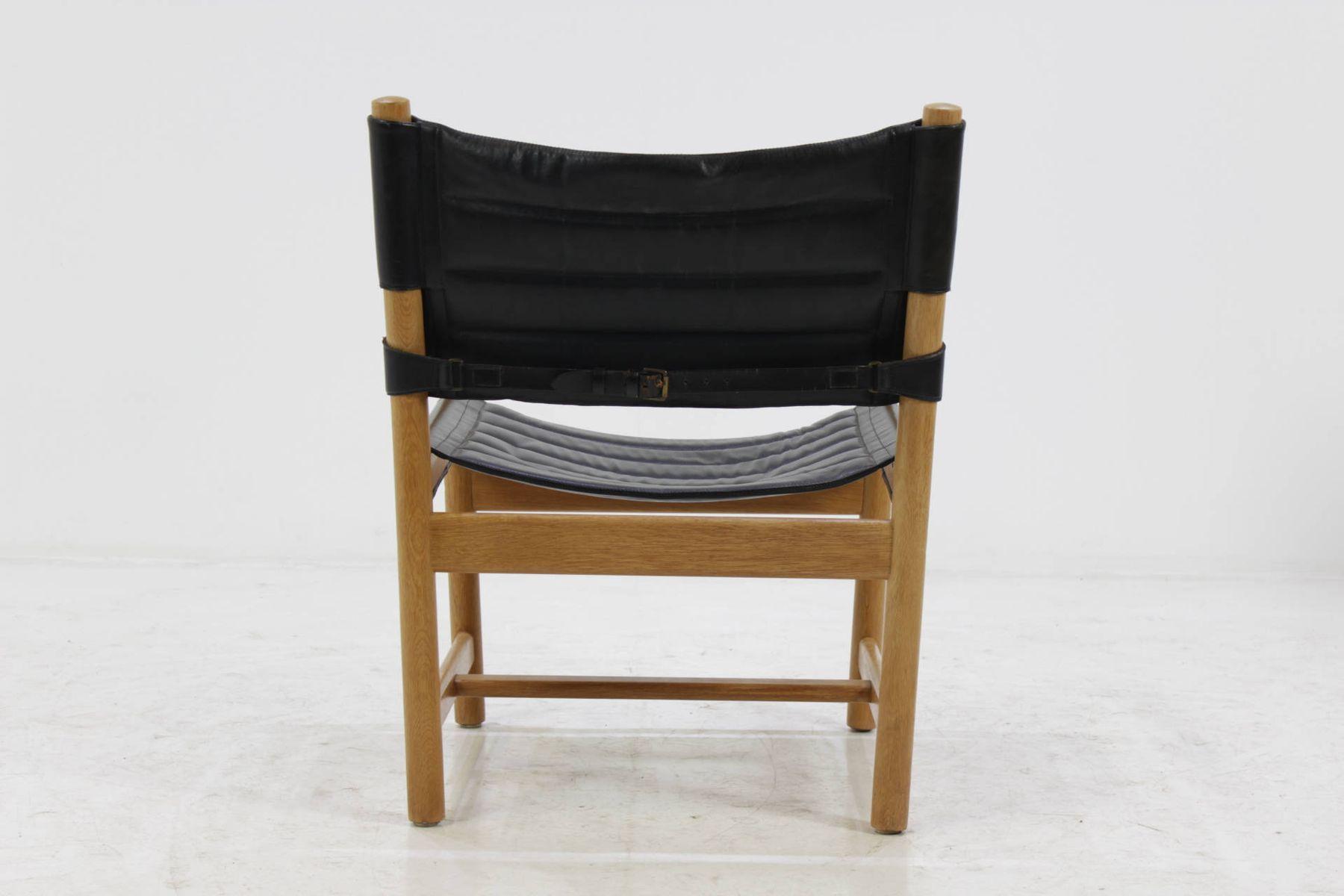 d nische schwarze leder armlehnst hle von ditte adrian. Black Bedroom Furniture Sets. Home Design Ideas