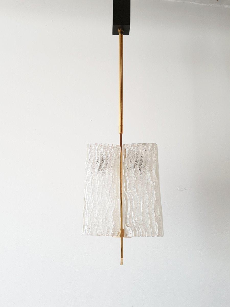 deckenlampe aus milchglas vergoldetem messing 1950er bei pamono kaufen. Black Bedroom Furniture Sets. Home Design Ideas