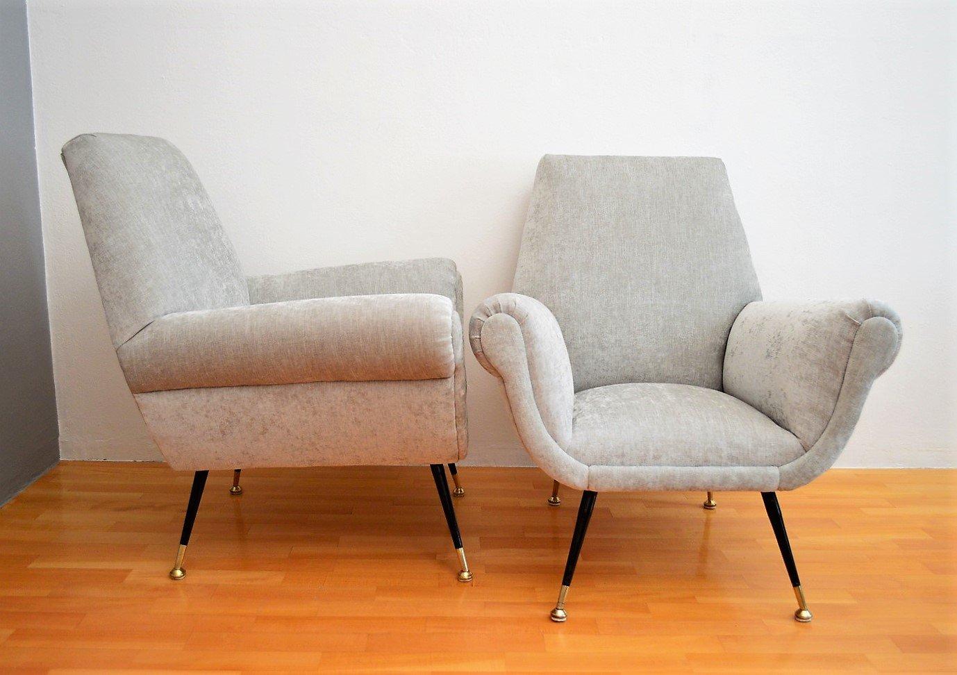 italienische sessel von gigi radice f r minotti 1950er 2er set bei pamono kaufen. Black Bedroom Furniture Sets. Home Design Ideas