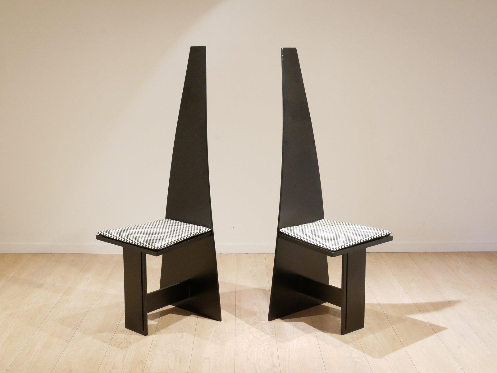moderne kubische schichtholz st hle 1930er 2er set bei. Black Bedroom Furniture Sets. Home Design Ideas