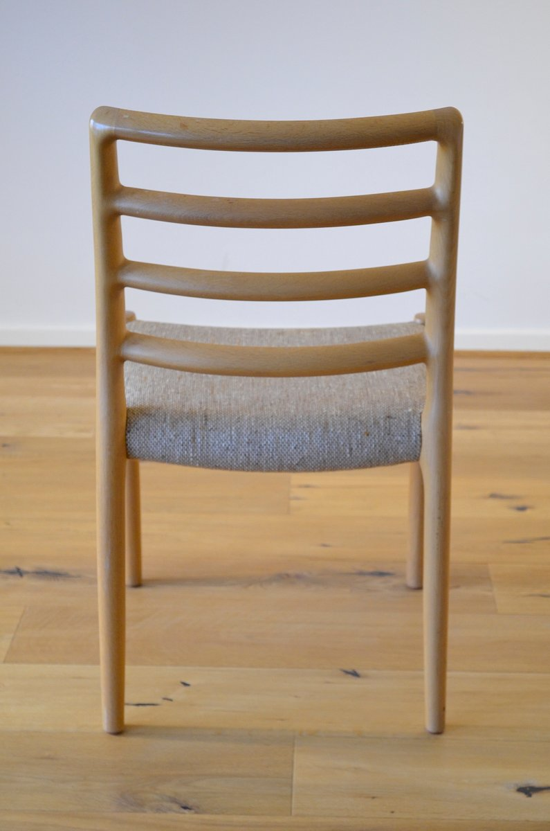 Vintage scandinavian dining chairs in oak by niels otto