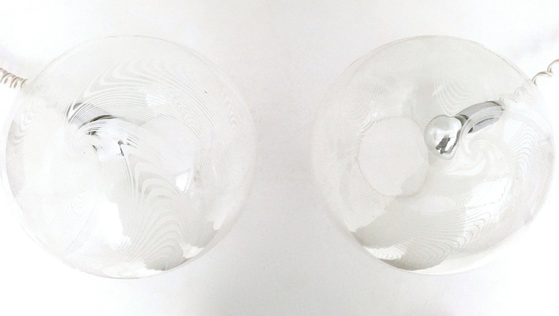 runde tischlampen aus mundgeblasenem glas 1970er 2er set bei pamono kaufen. Black Bedroom Furniture Sets. Home Design Ideas