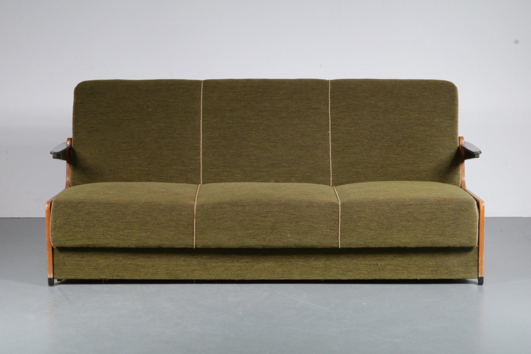 3 sitzer schlafsofa 1950er bei pamono kaufen. Black Bedroom Furniture Sets. Home Design Ideas