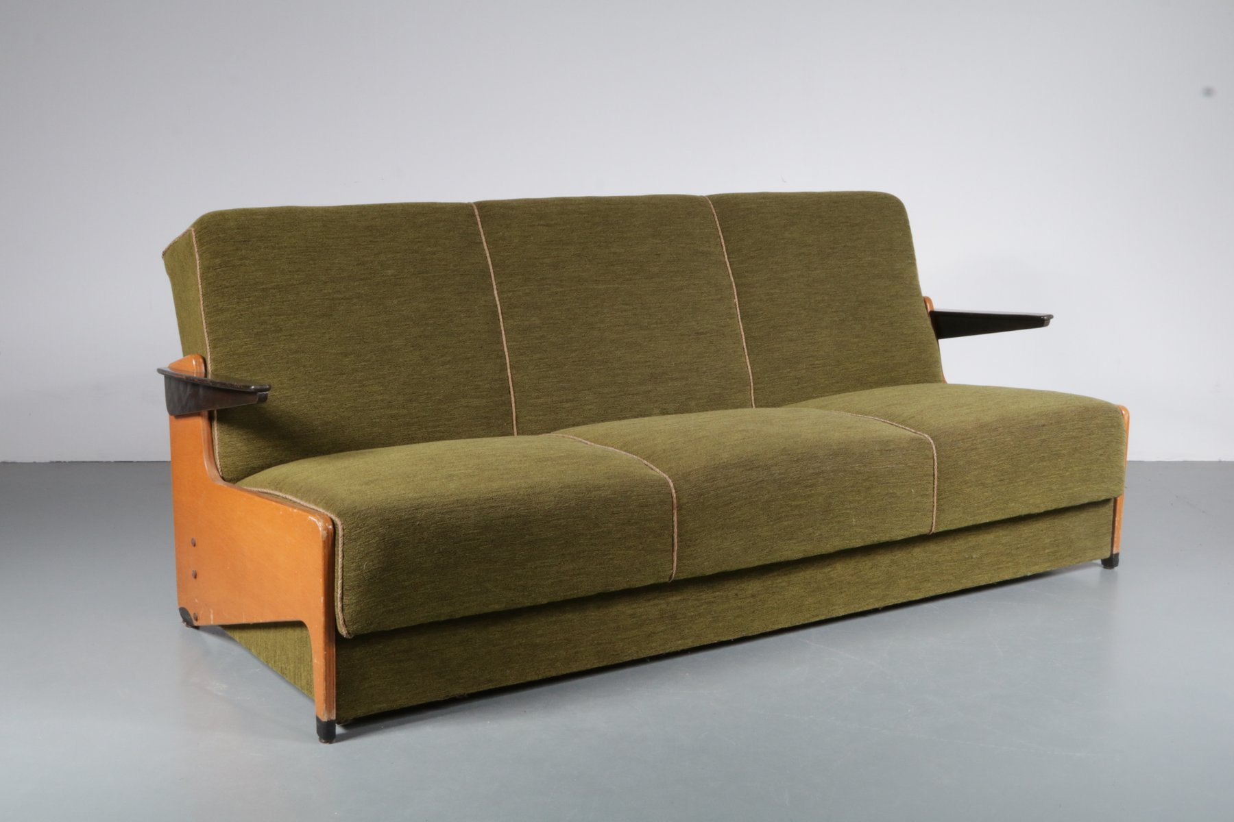 Exceptional 3 Seater Sleeping Sofa, 1950s